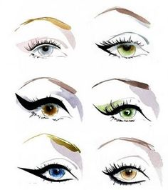 different ways to accentuate your EYES !!  For Rachael - cleopatra for play
