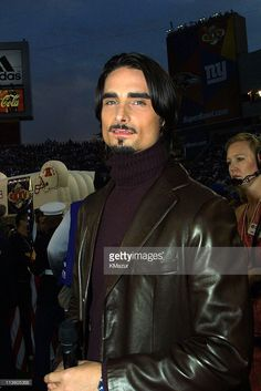 Kevin Richardson from Backstreet Boys during Super Bowl XXXV - Pregame Performance at Raymond James Stadium in Tampa, Florida, United States.