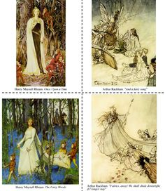 from Victorian Fairy Paintings: 24 Cards  by  Dover Publications