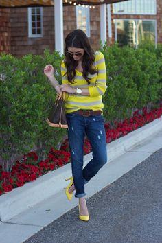 yellow via pink peonies