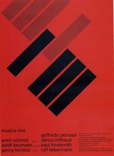 Zurich Tonhalle, Musica Viva poster 1958