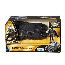 Exclusive Batman The Dark Knight Trilogy Action Figure and Vehicle Set - Batman with the Tumbler Batmobile