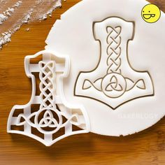 Your place to buy and sell all things handmade Triquetra, Yule, Creative Pie Crust, Fondant, Nordic Runes, Kitchen Witchery, Sugar Cookie Dough, Dough Recipe, Cookie Cutters