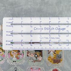 A Cross Stitch Gauge is an essential tool in any stitcher's toolbox. This handy ruler will help you... - find the thread count of your Aida or Linen fabric, - figure out how big stitch dimensions are