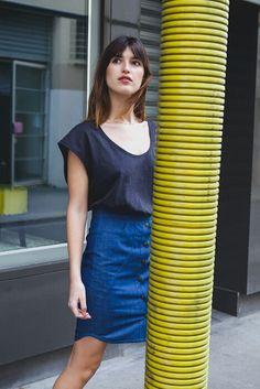 Deuxième look. Collection capsule jeanne damas pour Nathalie dumeix. En vente a partir du 15avril; )