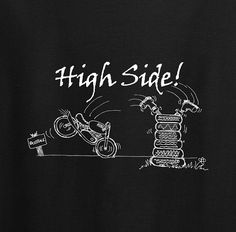 This 'high side' motorcycle t shirt would be a great gift for a dirt track or…