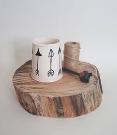 Tea Gifts, Mugs For Men, Paint Designs, Earthenware, Gifts For Him, Arrow, Tea Cups, Hand Painted, Ceramics