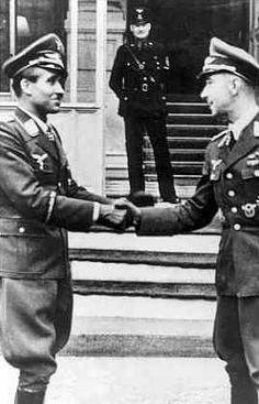 Werner Moelders, fighter pilot, officer, Germany - with Adolf Galland