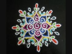 Colourful rangoli designs Diwali special - YouTube