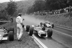 Formula One Drivers Graham Hill and Jo Siffert