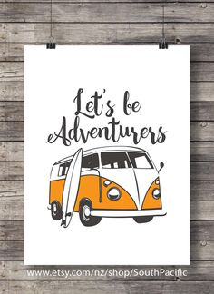 , Let's be Adventurers traveler gift Watercolor camper van travel surf surfer trav. , Let's be Adventurers traveler gift Watercolor camper van travel surf surfer traveler wanderlust Nursery decor Printable wall art - Watercolor Cactus, Watercolor Art, Travel Sticker, Whale Painting, Bunny Art, Travel Gifts, Nursery Art, Nursery Decor, Wall Decor