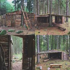Bushcraft Shelter Informations About Wilderness Survival Shel Survival Shelter, Survival Life, Survival Food, Wilderness Survival, Camping Survival, Outdoor Survival, Survival Prepping, Survival Skills, Camping Hacks
