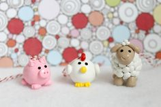 Barnyard Animals Ornaments Set of 3 by Emariecreations on Etsy, $28.00