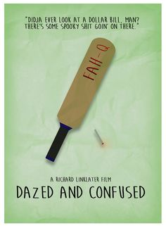 Dazed and Confused - Minimalist Poster Art Print by cashton - X-Small Dazed And Confused, Minimal Poster, Poster Prints, Art Prints, Best Graphics, Minimalist Art, Buy Frames, Cool Art, Movie Posters