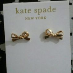Kate spade bow earrings ear stud New never used kate spade Jewelry Earrings