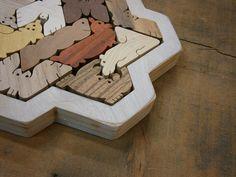 Hexiamond Unique Wood Puzzle Snowflake Frame. $85.00, via Etsy.