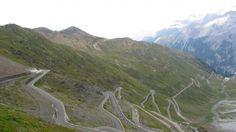 Stelvio Pass in the Italian Alps http://www.weather.com/news/commuter-conditions/worlds-kookiest-weirdest-roads-20140520