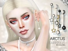 Sims 4 CC's - The Best: Arctus Earrings by Pralinesims