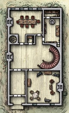 Diorama, Large Houses, Dungeon Maps, Fantasy Map, Tabletop Rpg, Pen And Paper, Autocad, Dungeons And Dragons, Gaming