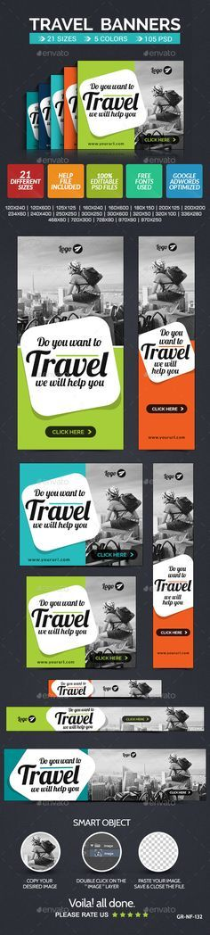 Travel Web Banner Set - 5 colors Template PSD | Buy and Download: http://graphicriver.net/item/travel-web-banner-set-5-colors/9338325?WT.oss_phrase=&WT.oss_rank=5&WT.z_author=doto&WT.ac=search_thumb&ref=ksioks