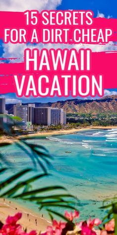 Planning a budget vacation to Hawaii in These great cheap Hawaiian vacation tips will save you SO much on travel in Hawaii. Hawaii Vacation Tips, Best Places To Vacation, Hawaii Travel Guide, Hawaii Honeymoon, Vacation Trips, Dream Vacations, Hawaii Hawaii, Cheap Vacation Spots, Cheap Places To Travel