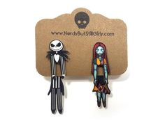 Pumpkin King and the Rag Doll Cling Earring