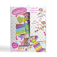 Sock Monkey Kit #giftsforher #DIY #sockmonkey