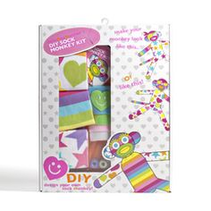 Sock Monkey Kit #littlemissmatched #DIY #sockmonkey
