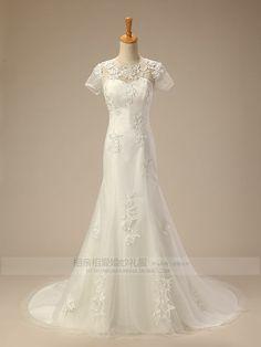 vestidos de noiva de manga curta de ombro nupcial fresco pequeno novo 2013 coleção de vestido de casamento bolso glúteo minimus
