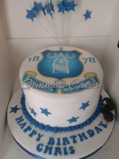 Everton football club cake Football cake ideas Pinterest Cake