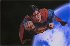 Superman, mi súper héroe favorito! Christofer Reeve, quedó parapléjico a raíz de una caída de caballo, que ironía! Ya murió.