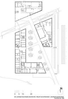 Université de Provence in Aix-en-Provence Entension,Ground Floor Plan