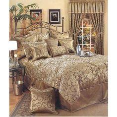 Easy Living Bellagio 6-Piece Comforter Set, Gold