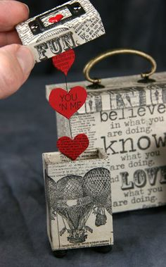 Like the hearts attached to box lid idea