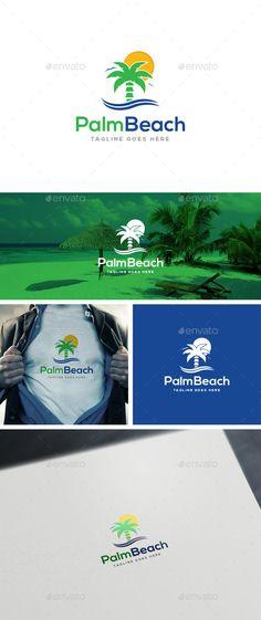 Palm Beach Logo Templates (Transparent PNG, JPG Image, Vector EPS, AI Illustrator, Font, Resizable, CS, agency, beach, bird, blue, bold, branding, clean, green, holiday, hotel, island, modern, nature, orange, palm, profesional, relaxation, resort, simple, summer, sunset, swimming, tour, travel, traveler, tree, trip, vacation, versatile, world)