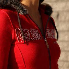 Sweat sportswear équitation Alexandra Ledermann Sportswear : Mardi Rouge