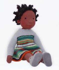 Billy - Handmade cloth doll. Designer Aldegonde Ceelen evolved the traditional Waldorf doll into children's book figures brought-to-life. All materials used are 100% natural.