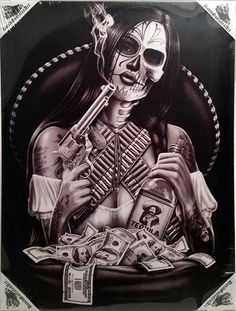Inked Boutique - Bandida By David Gonzales Art Canvas Giclee, $19.99 (http://www.inkedboutique.com/David-Gonzales-Art-Bandida-By-David-Gonzales-Art-Canvas-Giclee/)