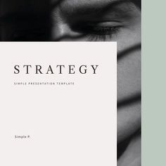Strategy Presentation Template is a simple presentation to show your project & ideas. This is the right business portfolio presentation for everyone who wants Fashion Portfolio Layout, Portfolio Pdf, Portfolio Design, Template Portfolio, Brand Presentation, Portfolio Presentation, Presentation Templates, Web Design, Layout Design