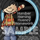 This is a follow-up to my   Sight Word Fluency Homework and my LETTER NAMING FLUENCY This pack is designed to help students practice reading number...
