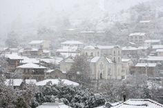 Snowfall over Cyprus - Kakopetria - Cyprus - Dec. 2013