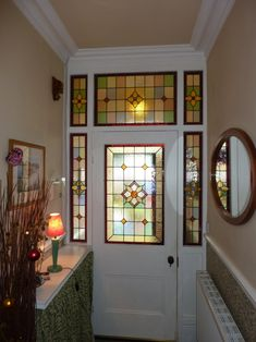One day - stained glass window patterns front doors Window Stained, Glass Door, Victorian Front Doors, Faux Stained Glass, House Window Design, Stained Glass Mosaic, Mosaic Glass, Glass Design, Glass Front Door