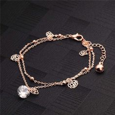 1pc Sexy Summer Multilayer Barefoot Anklet Beads Crystal Gold Chain Anklet Ankle Bracelet Foot Jewelry Female Summer Beach