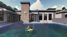 5 Bedroom House Plan - My Building Plans South Africa Tuscan House Plans, Metal House Plans, My House Plans, Split Level House Plans, Square House Plans, My Building, Building Plans, Home Design Plans, Plan Design