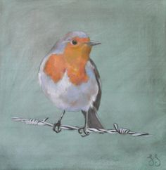 Bird on a wire: oil on canvas, original artwork by Susan Slump Venter Oil On Canvas, Original Artwork, My Arts, Wire, The Originals, Painting, Animals, Animales, Animaux