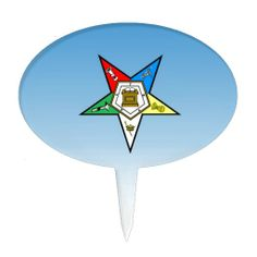 OES Order of the Eastern Star Blue Cake Topper