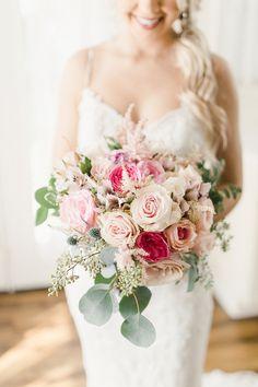 Delightful Blue & Pink Wedding at Rasberry Greene Plan Your Wedding, Dream Wedding, Wedding Day, Wedding Dreams, Bridesmaid Bouquet, Wedding Bouquets, Romantic Weddings, Pink Weddings, Floral Wedding