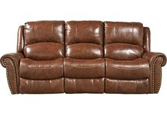 picture of Abruzzo Brown Power Reclining Leather Sofa from  Furniture