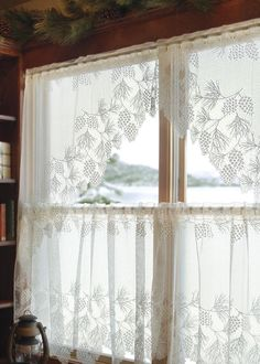 """The Woodland curtain collection is the perfect complement for your view. Pine boughs have an authentic, graceful sweep, appropriate in almost any season, any setting. This beautiful design from nature features deep-cut scallops. DETAILS - Valance measures 60"""" x 16"""" - Tier available in sizes: - 60"""" x 24"""" - 60"""" x 30"""" - Panel available in sizes: - 60"""" x 63"""" - 60"""" x 84"""" - Swag Pair measures 68"""" x 40"""" - Rod slots - Made in USA CARE & CONTENT 100% polyester. Machine wash cold, gentle. Do not…"""