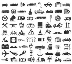 Transportation Icons vector set 05